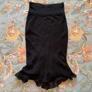 RICK OWENS MOUNTAIN F/W 12 Silk Fishtail Skirt 8